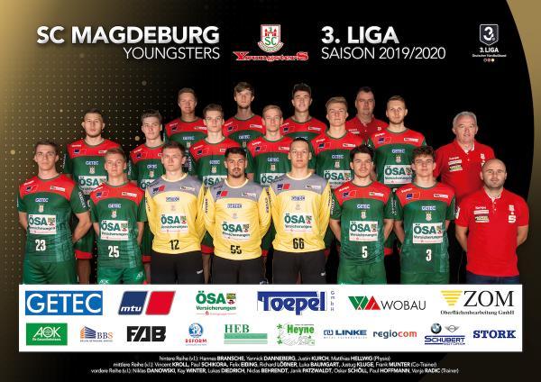 SC Magdeburg II, Mannschaftsfoto 2019/2020, 3. Liga