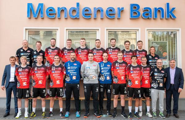 SG Menden Sauerland Wölfe, Mannschaftsfoto 2019/2020, 3. Liga