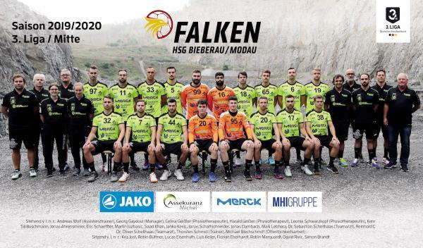 HSG Bieberau-Modau, Mannschaftsfoto 2019/2020, 3. Liga