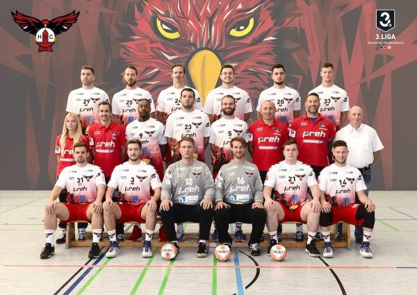 HSC Bad Neustadt, Mannschaftsfoto 2019/2020, 3. Liga