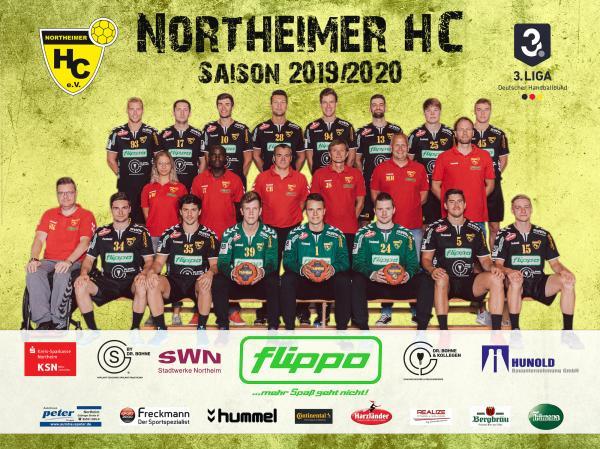 Northeimer HC, Mannschaftsfoto 2019/2020, 3. Liga
