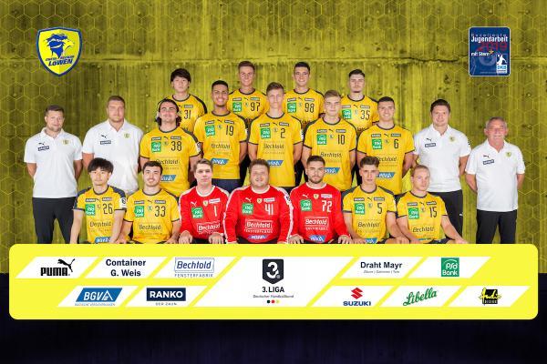 Rhein-Neckar Löwen II, Junglöwen, Mannschaftsfoto 2019/2020, 3. Liga