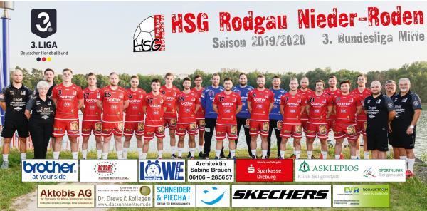HSG Rodgau Nieder-Roden, Mannschaftsfoto 2019/2020, 3. Liga