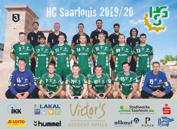 HG Saarlouis, Mannschaftsfoto 2019/2020, 3. Liga