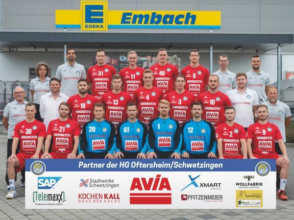 HG Oftersheim-Schwetzingen, Mannschaftsfoto 2019/2020, 3. Liga