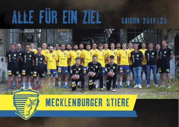 Mecklenburger Stiere Schwerin, Mannschaftsfoto 2019/2020, 3. Liga