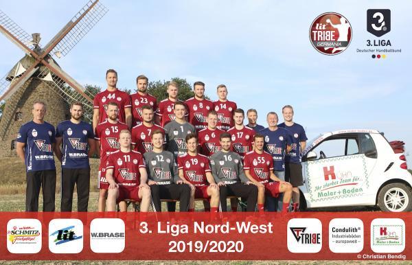 LIT Tribe Germania, Mannschaftsfoto 2019/2020, 3. Liga