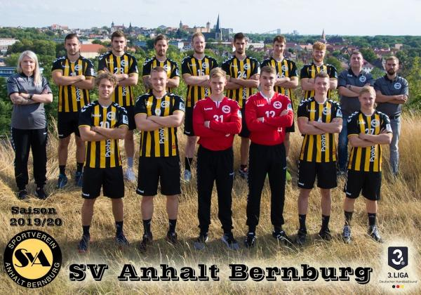 SV Anhalt Bernburg, Mannschaftsfoto Saison 2019/2020 3. Liga