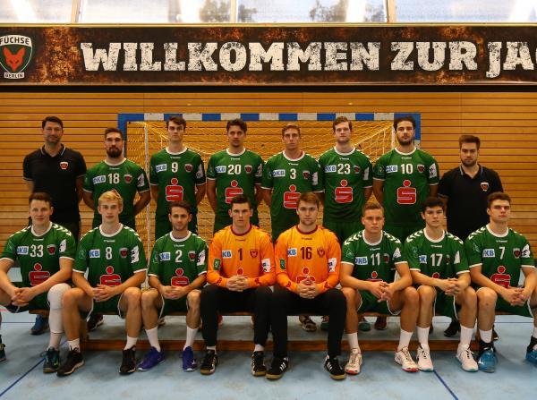 Füchse Berlin II, Füchse Berlin U23, Mannschaftsfoto Saison 2019/2020 3. Liga