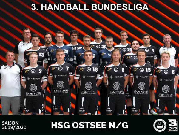 HSG Ostsee N/G, Mannschaftsfoto Saison 2019/2020 3. Liga