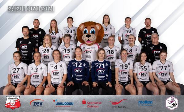 BSV Sachsen Zwickau - Teamfoto Mannschaftsfoto 2020/21