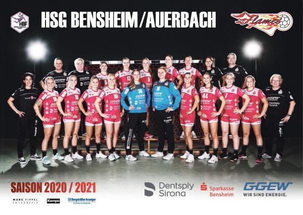HSG Bensheim/Auerbach Flames - Teamfoto Mannschaftsfoto 2020/21
