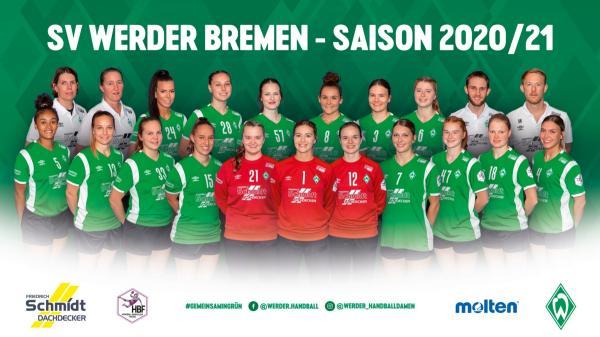 SV Werder Bremen - Teamfoto Mannschaftsfoto 2020/21