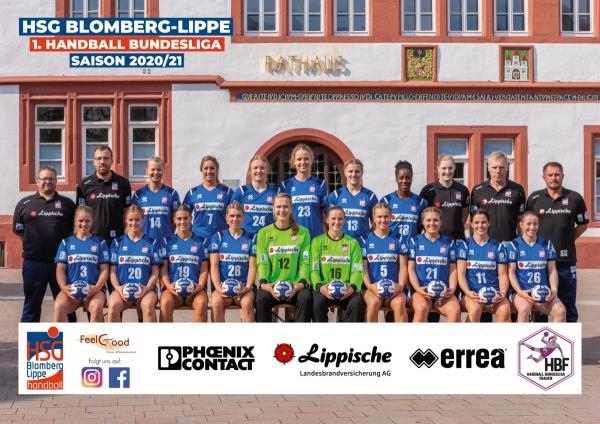 HSG Blomberg-Lippe - Teamfoto Mannschaftsfoto 2020/21