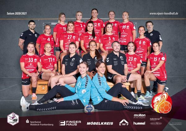 HSG Bad Wildungen Vipers - Teamfoto Mannschaftsfoto 2020/21
