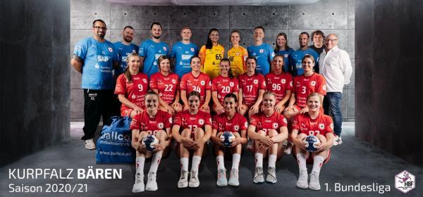 Kurpfalz Bären - Teamfoto Mannschaftsfoto 2020/21