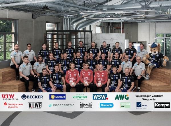Bergischer HC, Mannschaftsfoto 1. Handball-Bundesliga Saison 2020/21, LIQUI MOLY Handball-Bundesliga, HBL1