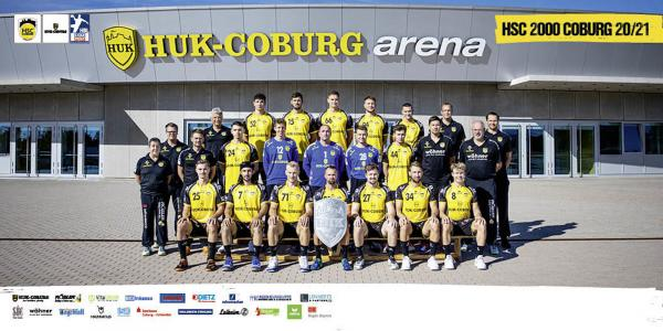 HSC 2000 Coburg, Mannschaftsfoto 1. Handball-Bundesliga Saison 2020/21, LIQUI MOLY Handball-Bundesliga, HBL1