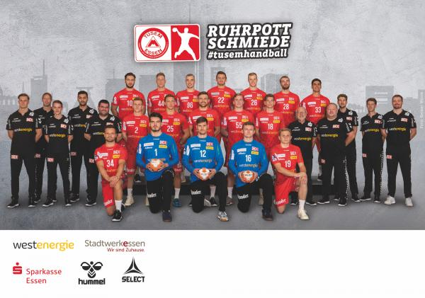 TuSEM Essen, Mannschaftsfoto 1. Handball-Bundesliga Saison 2020/21, LIQUI MOLY Handball-Bundesliga, HBL1