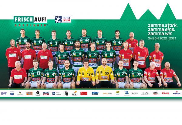 Frisch Auf Göppingen, Mannschaftsfoto 1. Handball-Bundesliga Saison 2020/21, LIQUI MOLY Handball-Bundesliga, HBL1