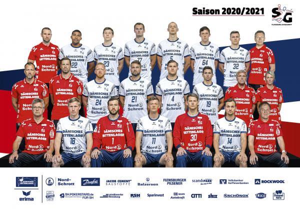SG Flensburg-Handewitt, Mannschaftsfoto 1. Handball-Bundesliga Saison 2020/21, LIQUI MOLY Handball-Bundesliga, HBL1