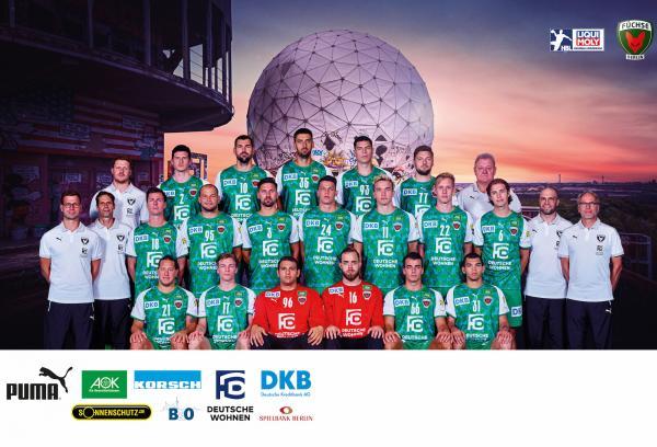 Füchse Berlin, Mannschaftsfoto 1. Handball-Bundesliga Saison 2020/21, LIQUI MOLY Handball-Bundesliga, HBL1