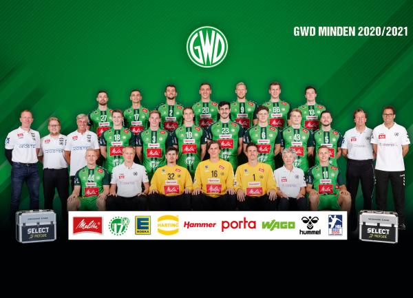 GWD Minden, Mannschaftsfoto 1. Handball-Bundesliga Saison 2020/21, LIQUI MOLY Handball-Bundesliga, HBL1
