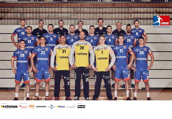 HBW Balingen-Weilstetten, Mannschaftsfoto 1. Handball-Bundesliga Saison 2020/21, LIQUI MOLY Handball-Bundesliga, HBL1