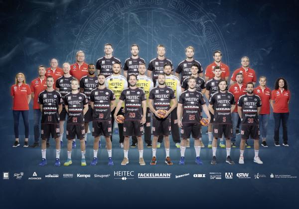 HC Erlangen, Mannschaftsfoto 1. Handball-Bundesliga Saison 2020/21, LIQUI MOLY Handball-Bundesliga, HBL1