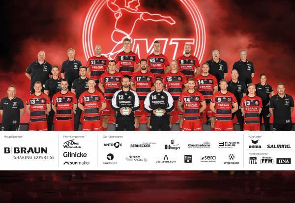 MT Melsungen, Mannschaftsfoto 1. Handball-Bundesliga Saison 2020/21, LIQUI MOLY Handball-Bundesliga, HBL1