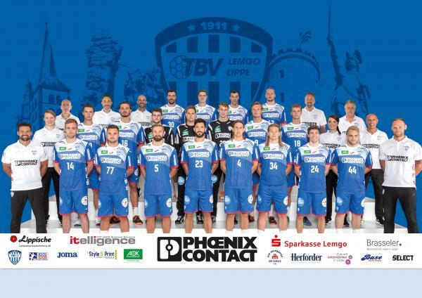 TBV Lemgo Lippe, Mannschaftsfoto 1. Handball-Bundesliga Saison 2020/21, LIQUI MOLY Handball-Bundesliga, HBL1