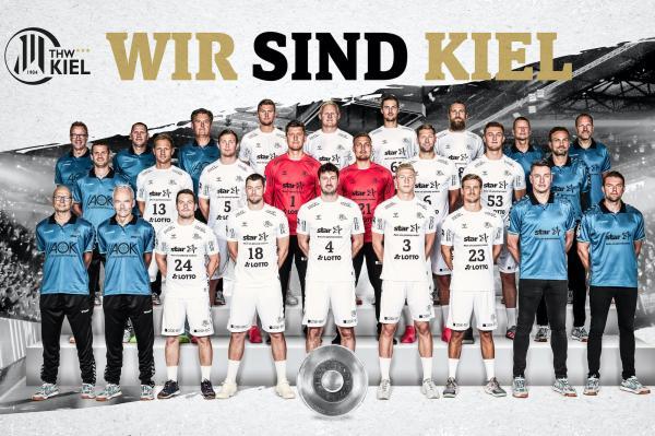 THW Kiel, Mannschaftsfoto 1. Handball-Bundesliga Saison 2020/21, LIQUI MOLY Handball-Bundesliga, HBL1