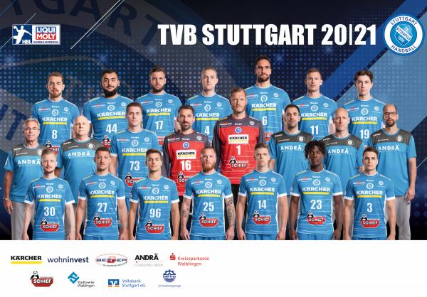 TVB Stuttgart, Mannschaftsfoto 1. Handball-Bundesliga Saison 2020/21, LIQUI MOLY Handball-Bundesliga, HBL1