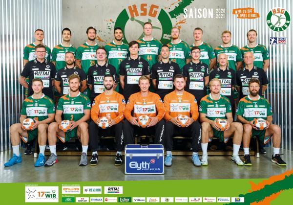 HSG Wetzlar, Mannschaftsfoto 1. Handball-Bundesliga Saison 2020/21, LIQUI MOLY Handball-Bundesliga, HBL1