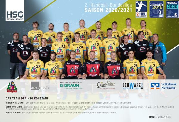 HSG Konstanz, 2. Handball-Bundesliga Saison 2020/21, HBL2