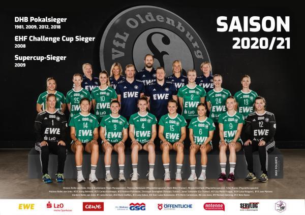 VfL Oldenburg - Teamfoto - Mannschaftsfoto 2020/21 NEU