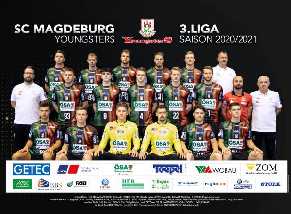 SC Magdeburg II, SC Magdeburg Youngsters, Mannschaftsfoto Saison 2020/21