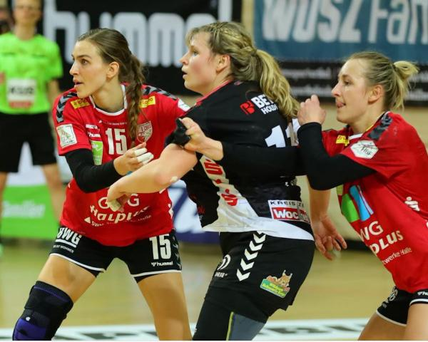 Cecilie Woller, Sarah Lamp, Lea Gruber, SV Union Halle-Neustadt