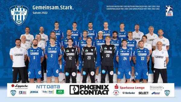 TBV Lemgo Lippe HBL1 Teamfoto Mannschaftsfoto 21/22