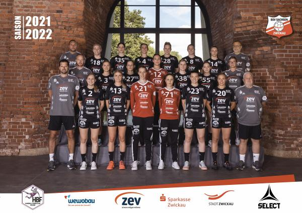 Teamfotos HBF1 2021/22 - BSV Sachsen Zwickau