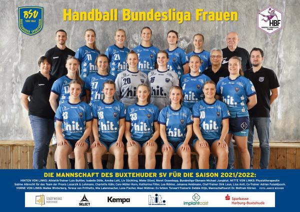 Teamfotos HBF1 2021/22 - Buxtehuder SV