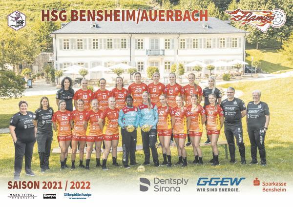 Teamfotos HBF1 2021/22 - HSG Bensheim/Auerbach