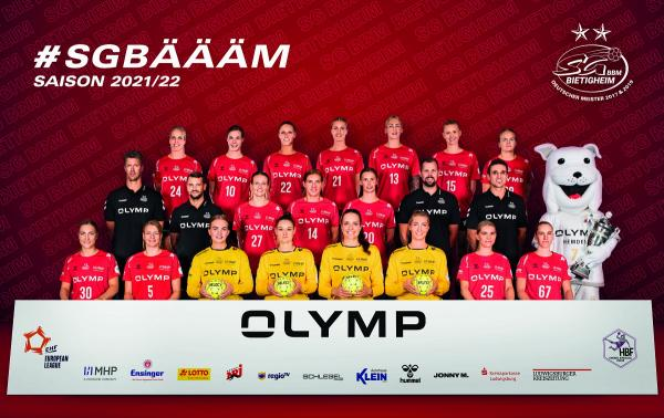 Teamfotos HBF1 2021/22 - SG BBM Bietigheim