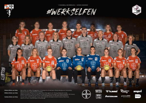 Teamfotos HBF1 2021/22 - TSV Bayer 04 Leverkusen