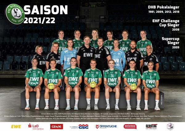 Teamfotos HBF1 2021/22 - VfL Oldenburg